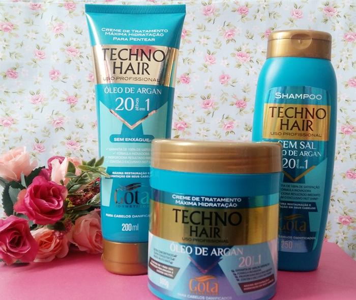 Testei: Techno Hair Gota Dourada