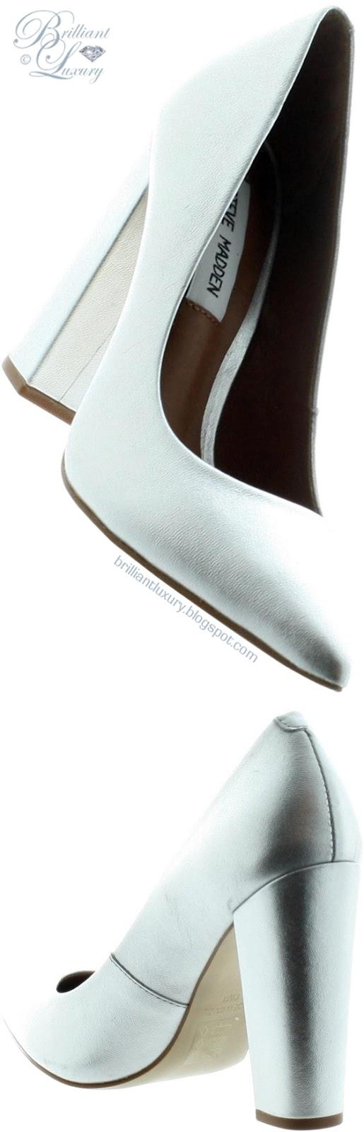 Brilliant Luxury ♦ Steve Madden Primpy blue block-heel pumps