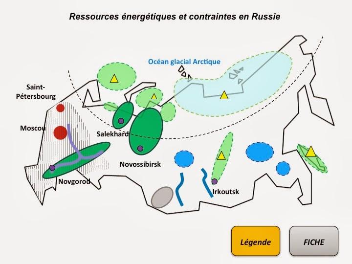 Hist-geomontfort: 2nde2 - carte de la Russie sur les hydrocarbures