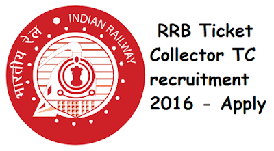 RRB Secunderabad 2017 TC (Ticket Collector) Recruitment