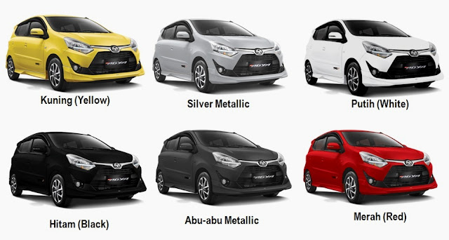 Pilihan warna Toyota Agya Facelift 2017