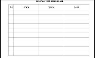Jadwal Piket Kebersihan, http://www.librarypendidikan.com/