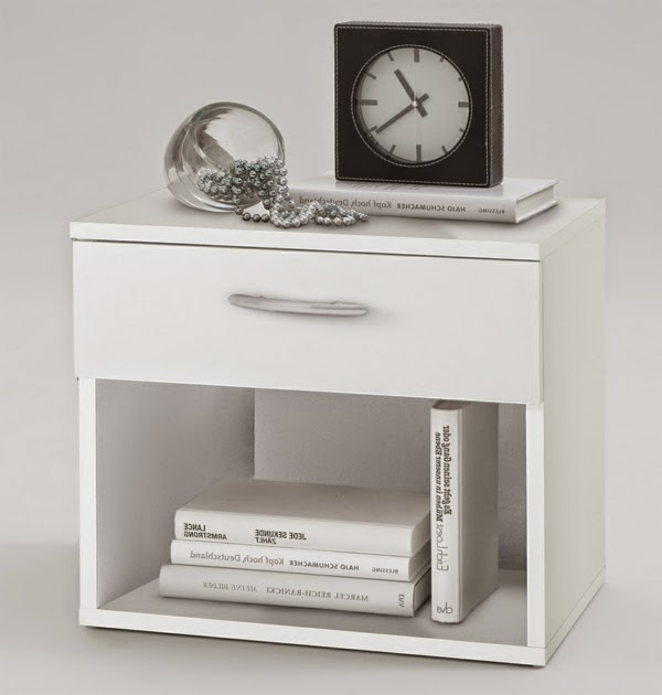 Functional White Bedside Tables With Bookcase For Modern Bedrooms