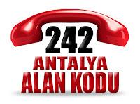 0242 Antalya telefon alan kodu