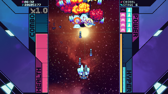 Screenshot from Super Galaxy Squadron EX Turbo