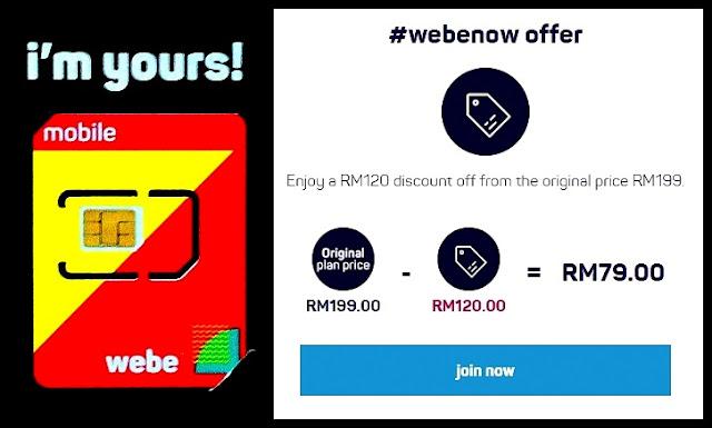 Pelan Pospaid Webe RM79/Month