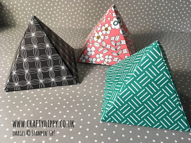 Learn how to make simple favours out of patterned paper.
