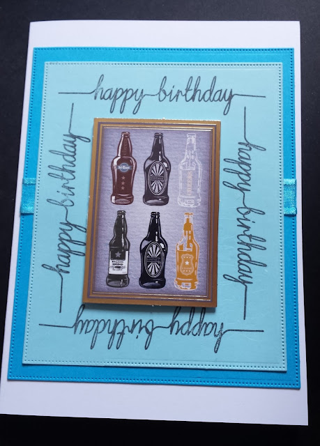 "Bottles Galore Happy Birthday 5"" x 7"" card"