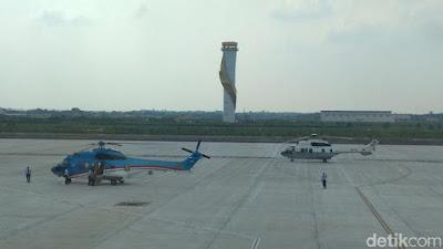 Helikopter Presiden Jokowi Mendarat Mulus di Bandara Kertajati - Info Presiden Jokowi Dan Pemerintah