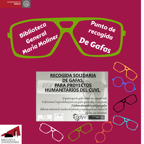 Recogida Solidaria de gafas para proyectos humanitarios del CUVI.