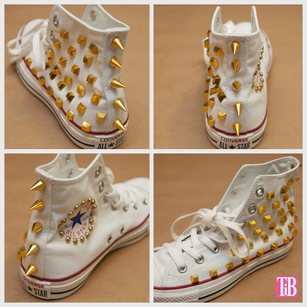 7fc90ad017cae3 Converse have been DIY d and embellished almost as long as they ve existed.  There s something so enticing about the simple style and clean lines that  just ...