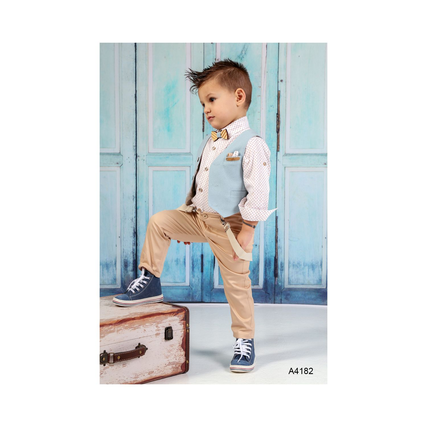 Greek Christening clothes for boys A4182