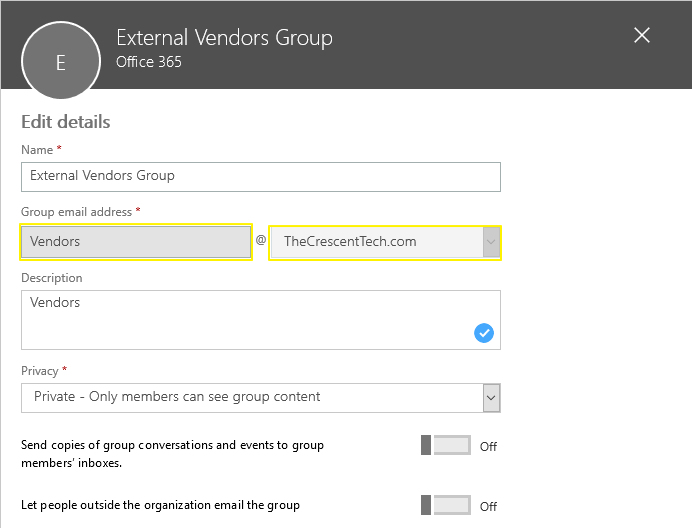office 365 group change email address powershell