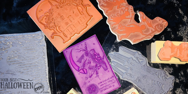 Halloween rubber stamps, Halloween stamp project ideas DIY craft decor