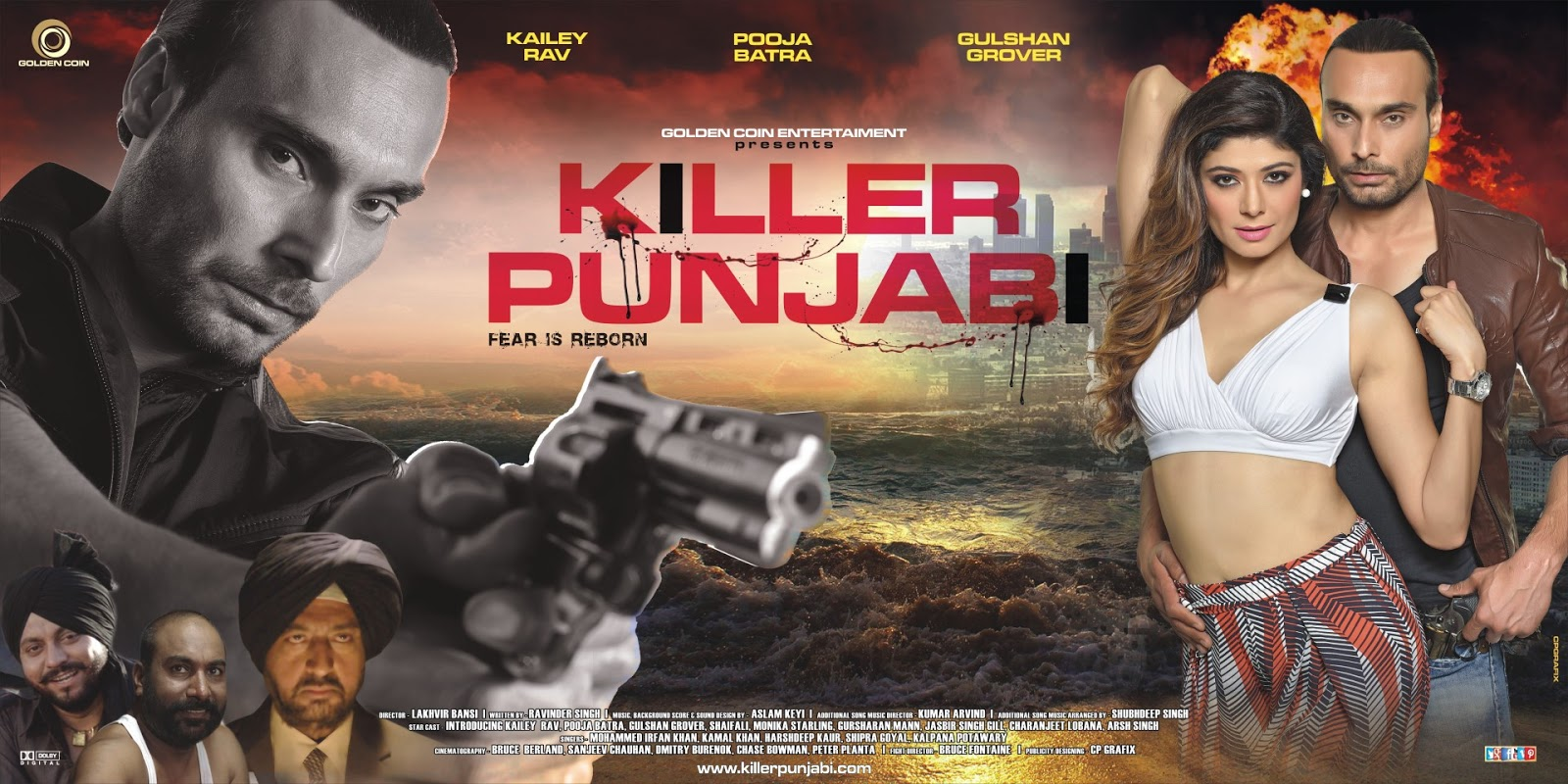 Complete cast and crew of Killer Punjabi (2016) bollywood hindi movie wiki, poster, Trailer, music list - Puja Batra , Gulshan Grover and M'laah Kaur Singh, Movie release date February 19, 2016