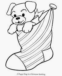 Christmas Puppy Coloring Pages 3