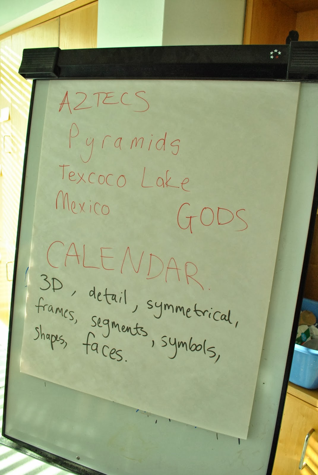 Education At 20 21 Crowle Create The Aztec Calendar