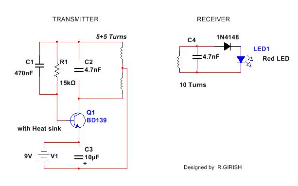 illuminating an led using wireless power transmission