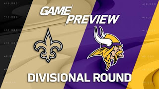 Saints @ Vikings NFL Divisional Playoffs Simulation