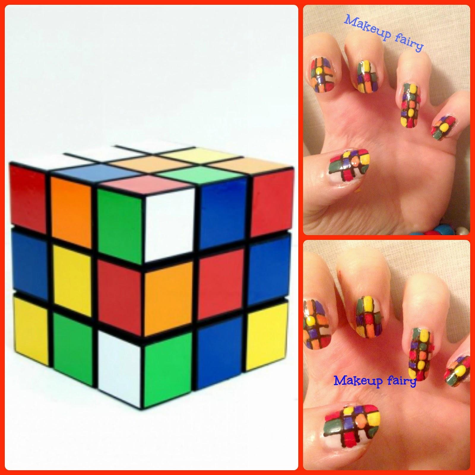 505e24ac11eb Rubik's cube nail art