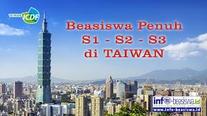 Beasiswa Penuh S1, S2, S3 di Taiwan