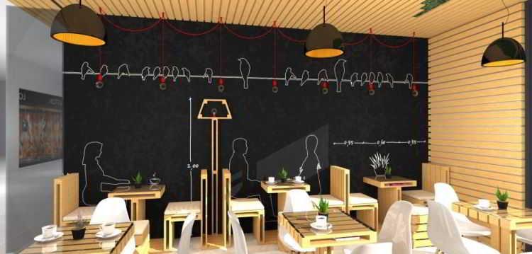 ツ 30+ konsep desain interior cafe minimalis outdoor