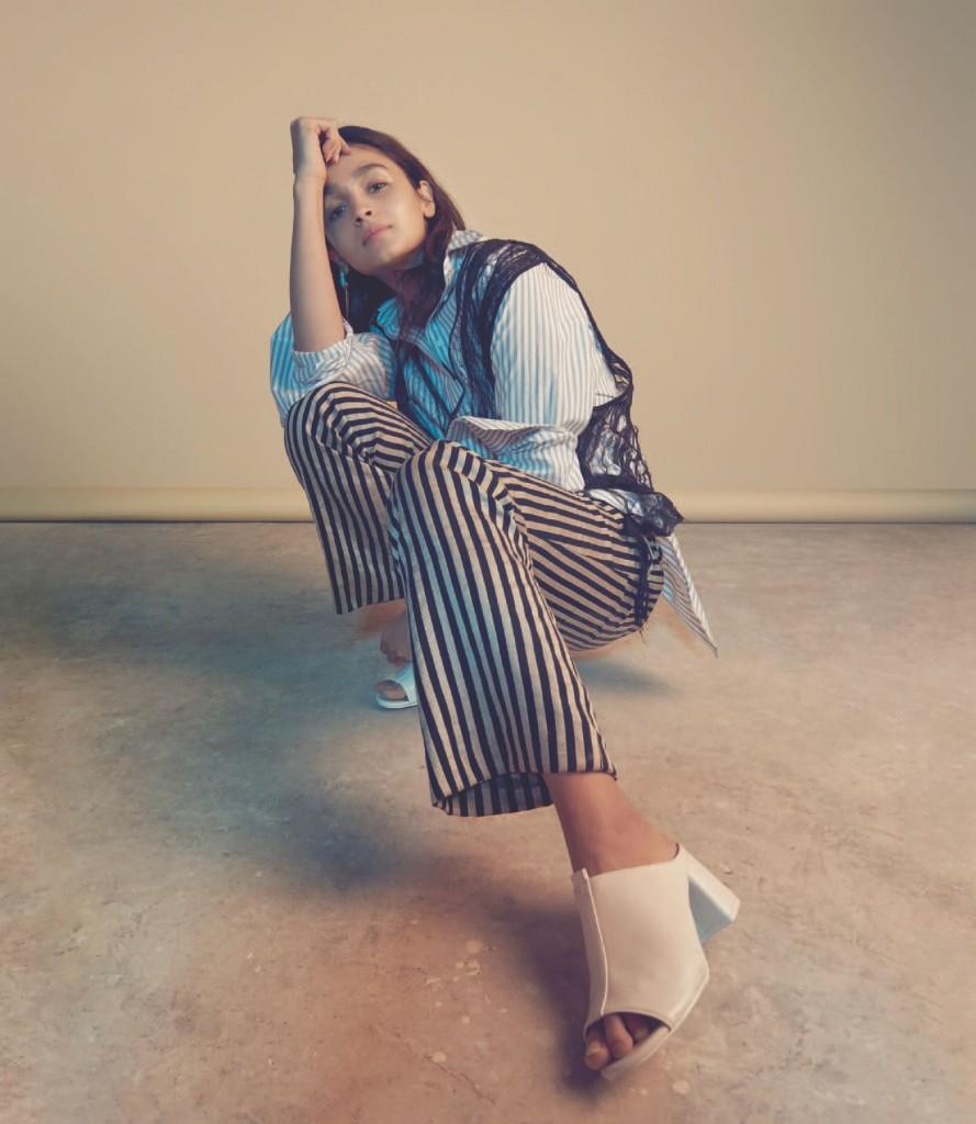 Alia Bhatt Photoshoot Backless for the Grazia Magazine Cover April 2017