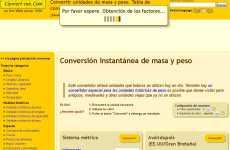 Convert-me: convertidor de unidades de medidas y pesos interactivo online