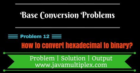 Java program that converts hexadecimal number to binary number.