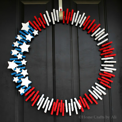 Home Crafts by Ali 2015 wreath craft DIY holiday 4th of july