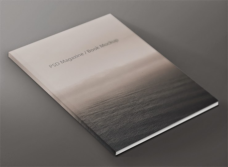 Free Book Cover Mock-up Template PSD