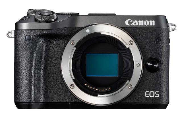 Canon EOS M6 Front Body Showing Sensor