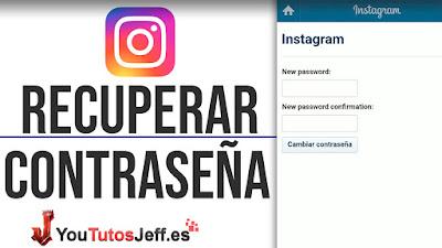 como recuperar contraseña de instagram