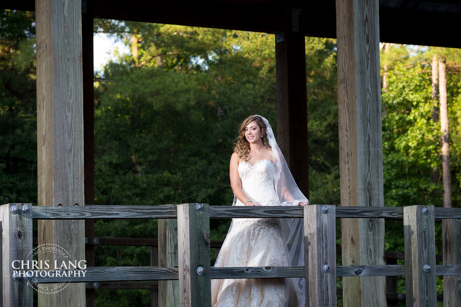 River Landing Bridal Picture - The covered bridge at River Landing
