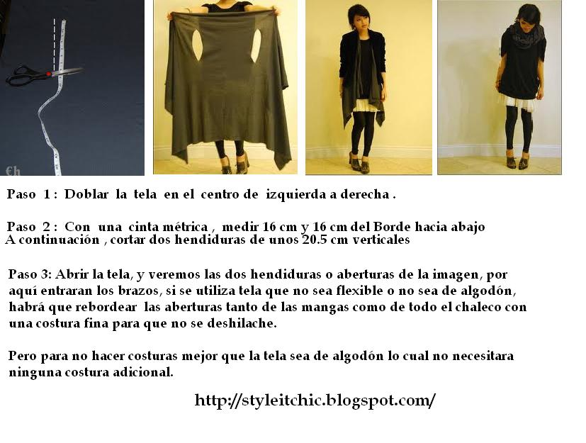 chaleco sin costura, bricomoda, tutoriales, moda,