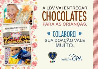 LBV participa neste sábado de Páscoa Solidária promovida pelo Instituto GPA