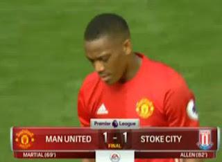 Manchester United Ditahan Imbang Stoke City 1-1