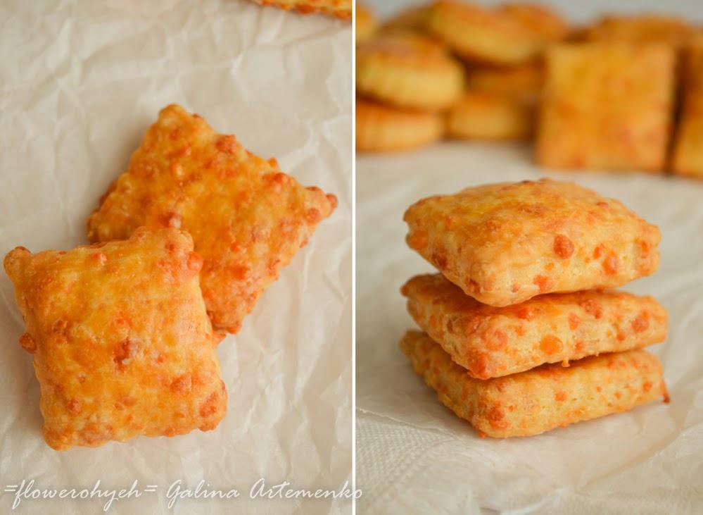 крекеры из твердого сыра