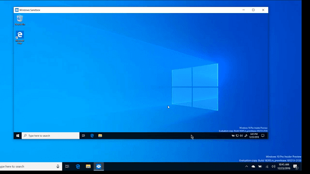 شرح ميزة windows sandbox في الويندوز 10