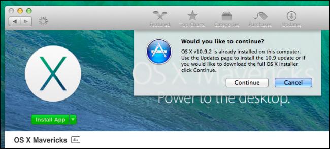 OS X Mavericks Install