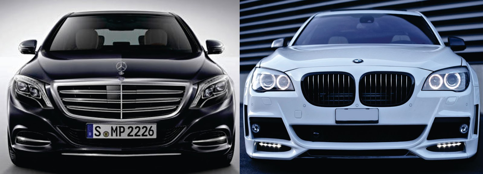 Attractive Mercedes Benz S600 And BMW 760Li