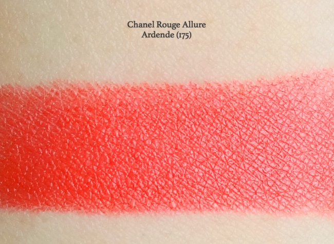Chanel Rouge Allure Ardente swatch