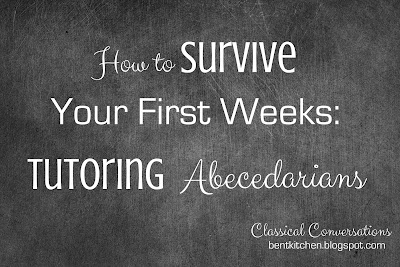 How To Survive Your First Weeks Tutoring Abecedarians :: bentkitchen.blogspot.com