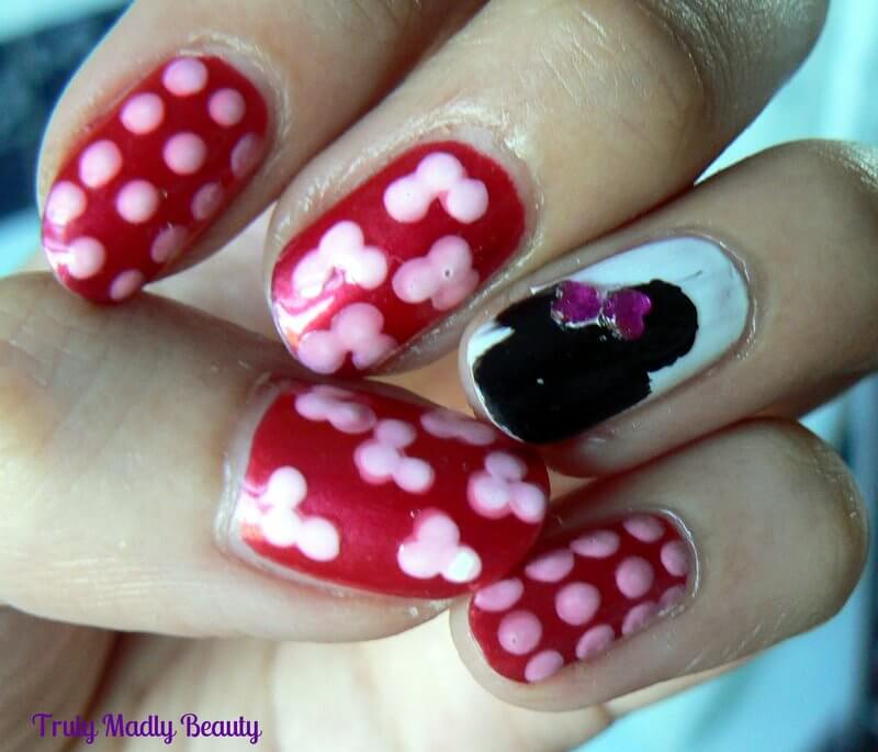 Minnie Mouse Nails: Minnie Mouse Inspired Disney Nails