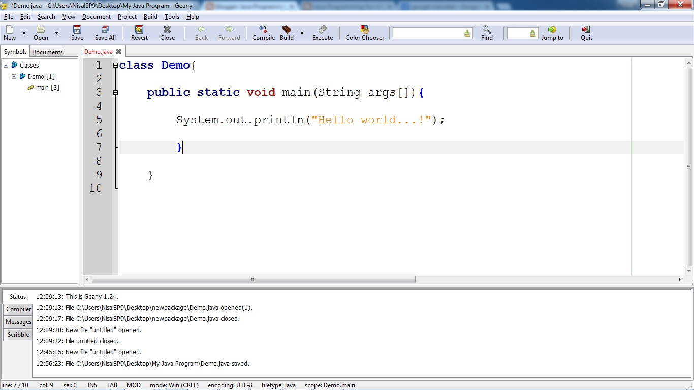 write a program to show typecasting in java with output file
