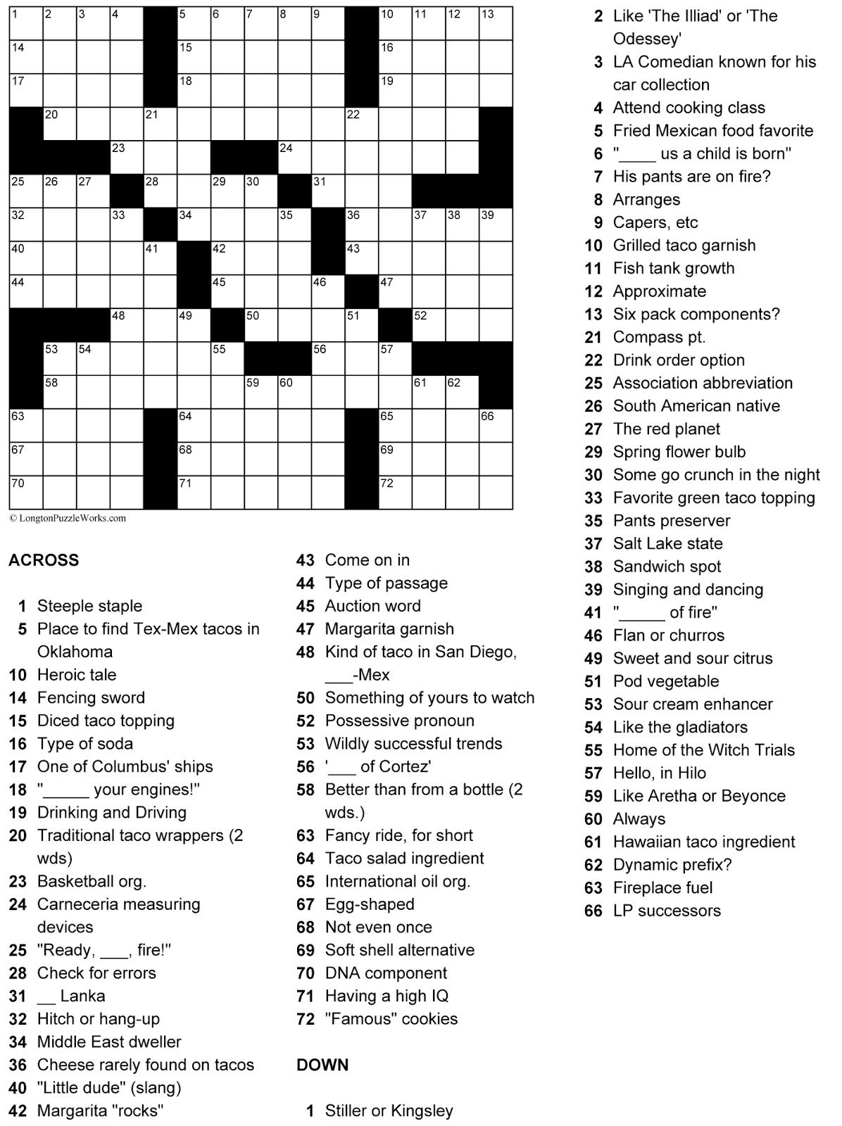 The Taco Maven A Guide To Eating And Cooking Tacos Taco Crossword