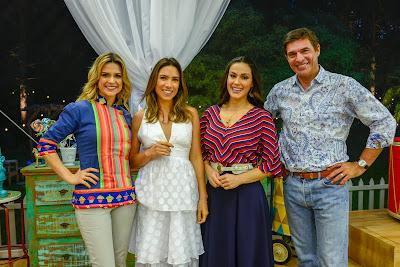 Beca, Patricia, Nadja e Olivier (Crédito: Zé Paulo Cardeal/SBT)