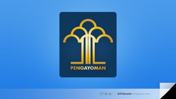 237desain - Logo Kementerian Hukum dan HAM Republik Indonesia (Kemenkumham)