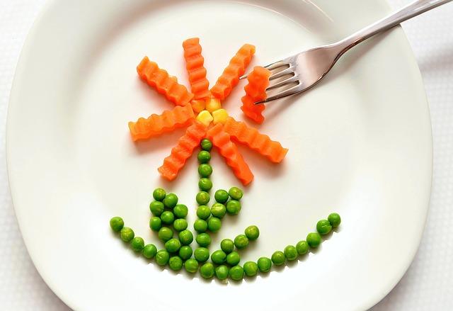 flor de zanahoria y guisantes