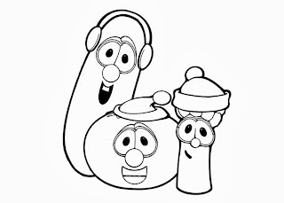 Veggie tales christmas coloring pages free for Free veggie tales coloring pages